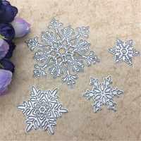 4 unids/set de copo de nieve de corte muere de Navidad de corte de Metal muere plantillas morir corte para Scrapbooking DIY álbum de estampado de tarjeta de papel