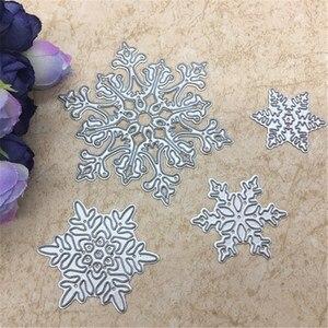 Image 1 - 4pcs/set Snowflake Cutting Dies Christmas Metal Cutting Dies Stencils Die Cut for DIY Scrapbooking Album Paper Card Embossing