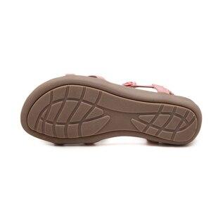 Image 3 - BEYARNE חדש בוהמי סגנון 2018 קיץ נשים נעלי אופנה נשים סנדלי העקב שטוח מותג חוף קיץ נעלי גבירותיי מתוק