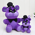 10pcs/lot 25cm 14cm FNAF Five Nights At Freddy's Plush toys Nightmare purple bear Freddy Fazbear plush pendant keychain toys
