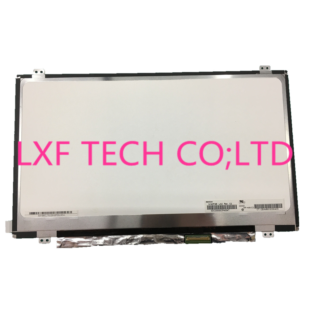 N140FGE-LA2 B140RW02 V.0 LTN140KT03 LP140WD2 TLC1 1600X900 40PIN Slim LED Laptop Screen Panel