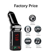 Car MP3 Audio Player Bluetooth FM Transmitter Wireless FM Modulator Car Kit HandsFree LCD Display USB Charger For iPhone Samsung(China)