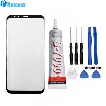 Netcosy S8 S8 плюс S9 S9 плюс Передняя Внешний Стекло крышка объектива для samsung Galaxy S8 S8plus S9 ЖК-дисплей Стекло и B-7000 50 мл клей и инструменты
