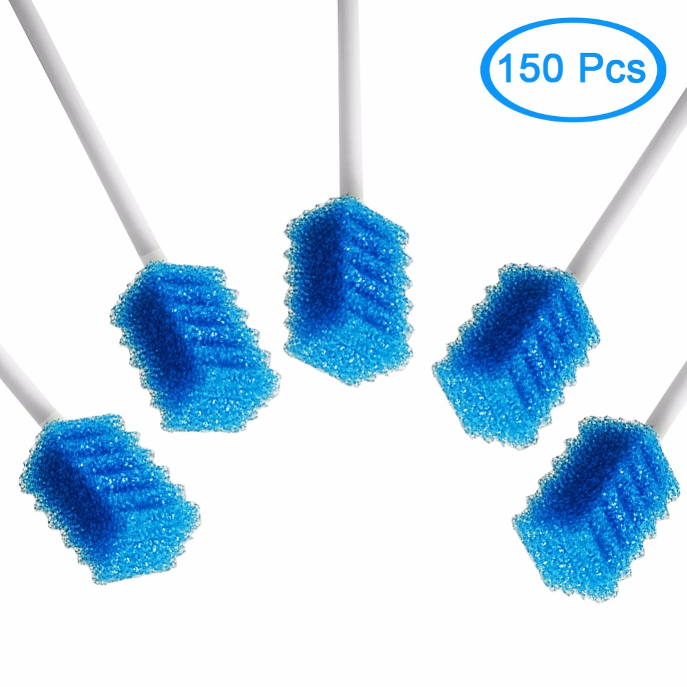 MUNKCARE Disposable Unflavored Teeth Whitening Cleansing Dental Swabs Dentips Tooth Cleaning Swabs Blue