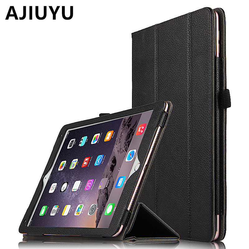 AJIUYU Case Cowhide For Apple iPad Pro 9.7 inch Cases Protective Smart Cover Protector Genuine Leather Tablet For iPadPro 9.7 drop shock proof eva smart cover for apple ipad pro 9 7 inch cases kids children safe silicon for ipad pro 9 7 protective case
