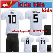 462e260c297 2018 World Cup Germany kids soccer jerseys 2018 home jersey shirt MULLER  OZIL GOTZE REUS KROOS HUMMELS Children Football Shirts