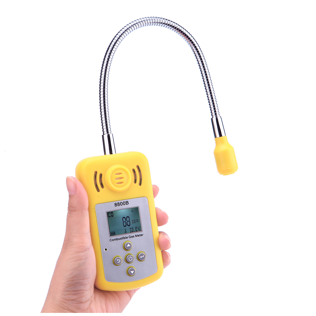 Portable LCD Screen Gas Analyzer Combustible Gas Detector Gas Leak Location Determine Tester with Sound Light Alarm uyigao ua9800b portable automotive mini combustible gas detector gas leak location determine tester with lcd display sound alarm