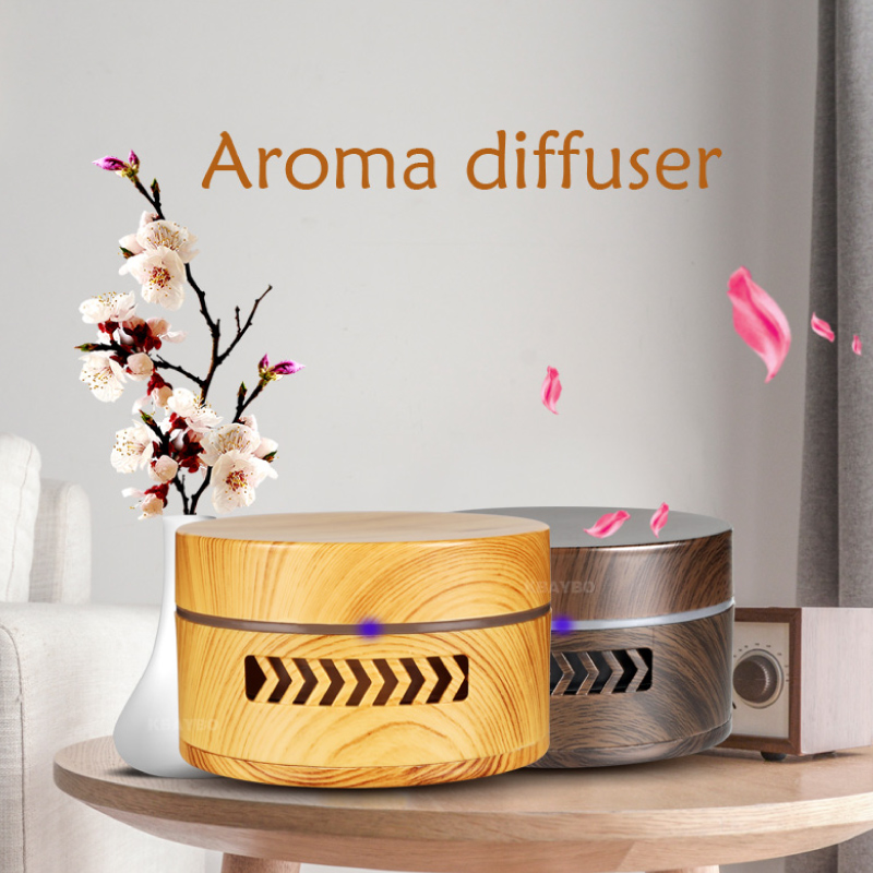 ejoai Mini aroma diffuser fragrance air purifier essential oil diffuser wood grain replaceable battery air cleaner for car home