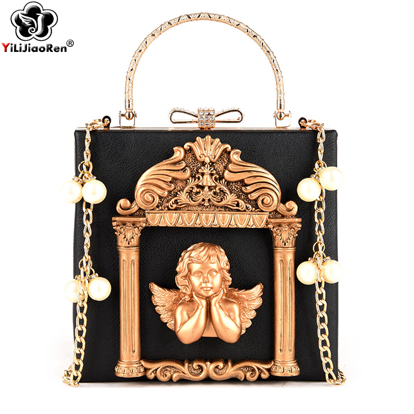 Luxury Angel Female Handbags Fashion Pearl Women Bag Cross Body Brand Leather Women Shoulder Bag Ladies Hand Bags Sac A Main