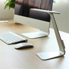 1X Ультратонкий LED Затемнения Сенсорный Чтение Настольная Лампа USB Защита Глаз Ночник Аккумуляторная Стол Свет Лампы Серебро/Серый/золото