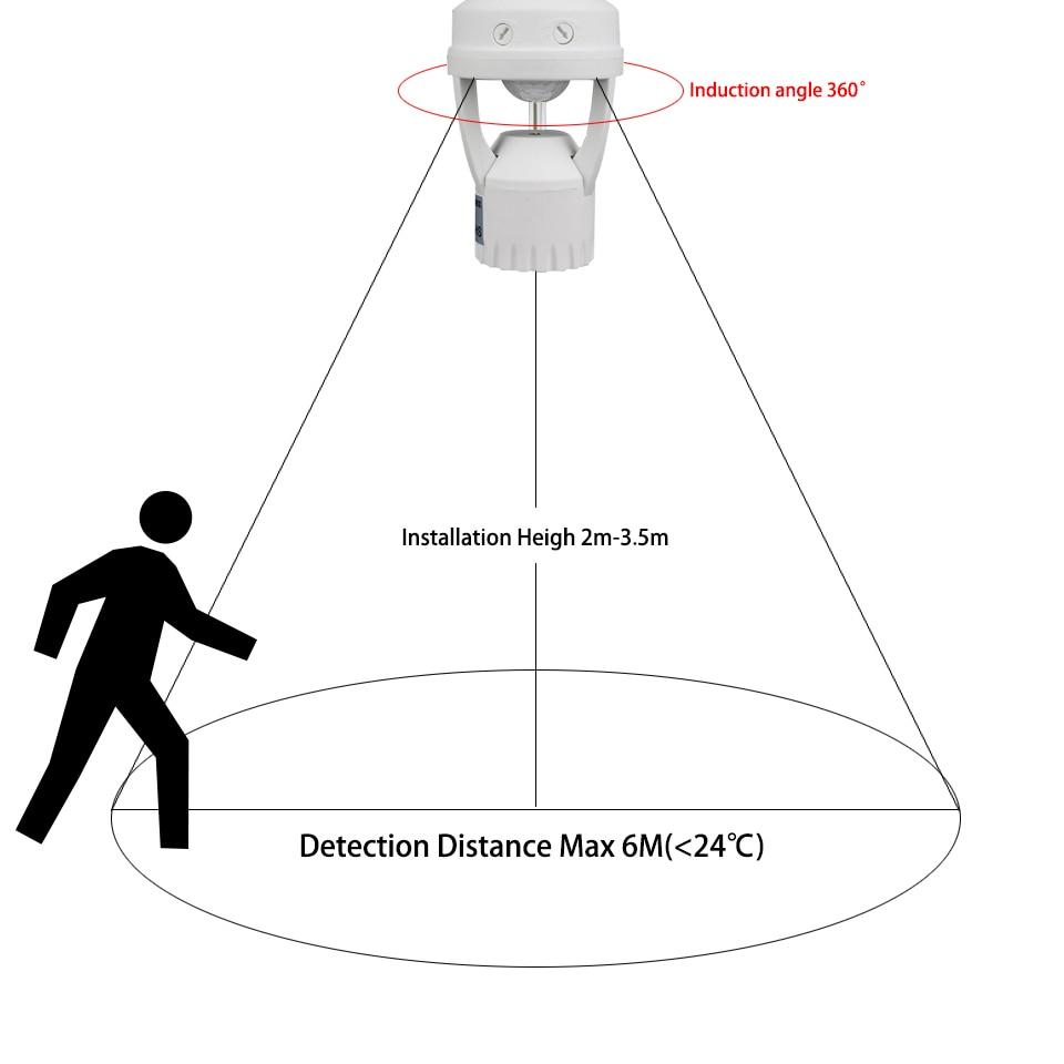 Lâmpadas Led e Tubos de indução pir sensor de Tensão : Ac200-240v