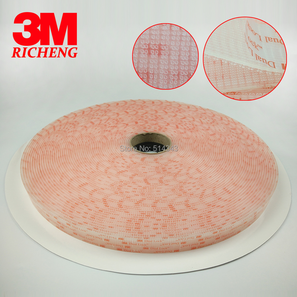 Strong Stiky Transparent Mushroom Head Tape 3M Waterproof Hook And Loop Tape SJ3561 kitmmm5910121296unv20630 value kit highland transparent tape mmm5910121296 and universal perforated edge writing pad unv20630