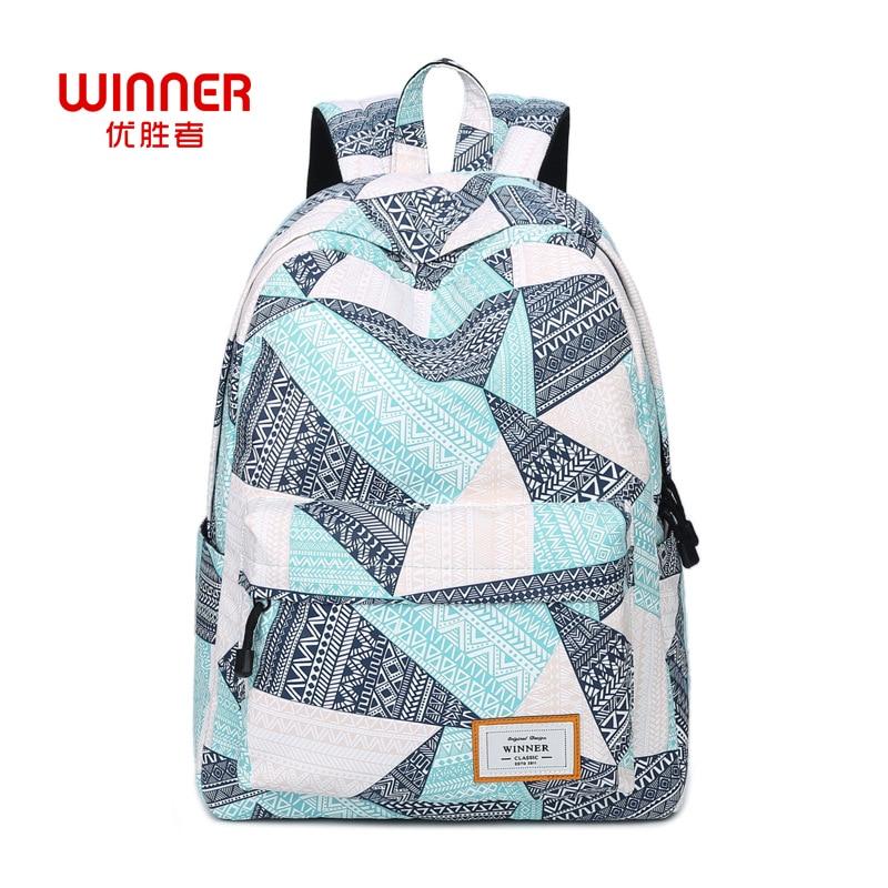 WINNER Women s backpack fashion shoulder bag preppy style printing  backpacks for teenage girlas student laptop backpack 0afafaf3dc67