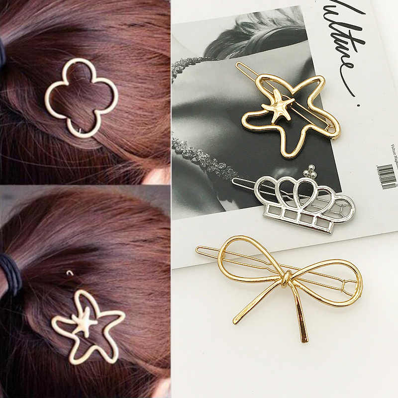 Fashion Accessories 2018 Sea Star Silver Hair Jewelry Hair Clip Hair Pins for Women Vintage Accessories Hair Clips Jewellery