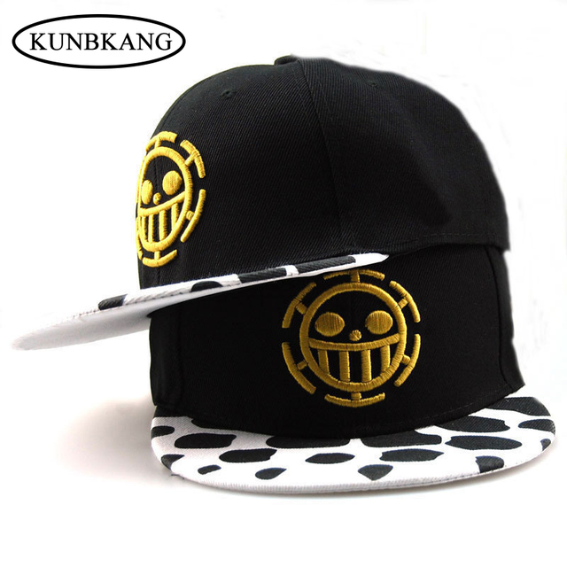 High Quality Cartoon One Piece Baseball Cap Hat Trafalgar Law Caps Gorras  Women Men Casual Cotton Snapback Cap Flat Hat Bone 466501feeed