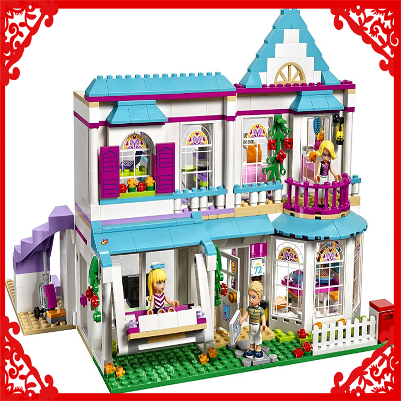 LEPIN 01014 Friends Series Stephanie's House 622Pcs Building Block Educational  Toys For Children Compatible Legoe decool 3114 city creator 3in1 vehicle transporter building block 264pcs diy educational toys for children compatible legoe