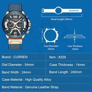 Image 4 - Curren męskie zegarki Top marka luksusowy chronograf mężczyźni zegarek skórzany luksusowy wodoodporny zegarek sportowy mężczyźni mężczyzna zegar człowiek zegarek