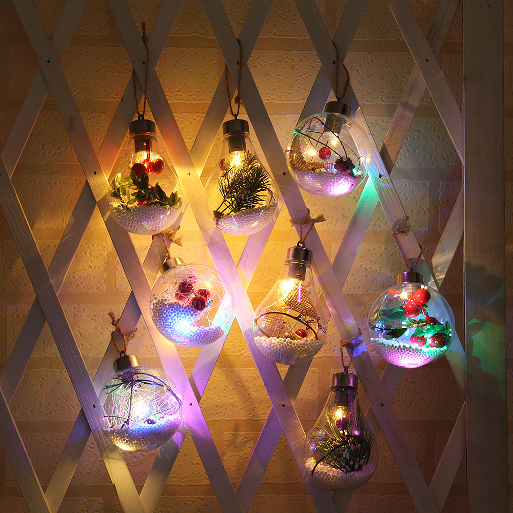Christmas Button Copper Wire Spherical Suspension LED Lamp