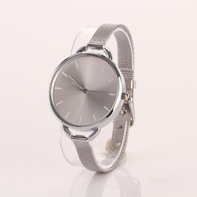Fashion Brief Bracelet Watches Women Thin Mesh Band Wristwatch Gold Quartz Watch
