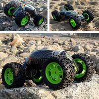 Actions Stunt Car Stunt Vehicle DIY Fun Deformation Vehicle 4 WD Remote Control 4 Wheels 360 Degree Rotating Rollover