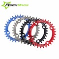 ROCKBROS 7075 Aluminium Narrow Wide 104BCD 32T/34T/36T Bike Circle Crankset MTB Bicycle Round Oval Chainring Chain Wheel Plate