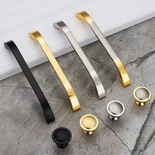 цена на Feng Ye Modern Door Handles Kitchen Cabinet Knobs  Handles Silver Furniture Hardware Wardrobe Cupboard Handle Gold Drawer Pulls
