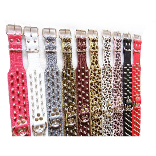 1Pcs Led Dog Collar PU Leather Spiked Dog Collar Personalized Adjustable Pet Necklace Pet Collar Dog Strap Animals Product