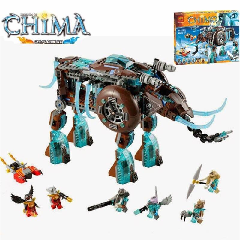 Chimaed 70145 Maula الجليد الماموث Stomper بناء لعبة بيلا 10297 تنوير بناء كتل لعب الاطفال متوافق Legoings-في حواجز من الألعاب والهوايات على  مجموعة 1
