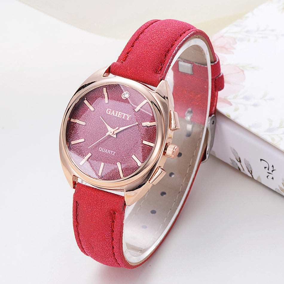 Gaiety Brand 2017 New Fashion Women Leather Casual Sport Quartz Watches Luxury Rose 3D Dial Vintage Clock Ladies Wrist Watch gaiety new watch women stainless steel case leather band casual fashion female gold watches luxury brand quartz g146