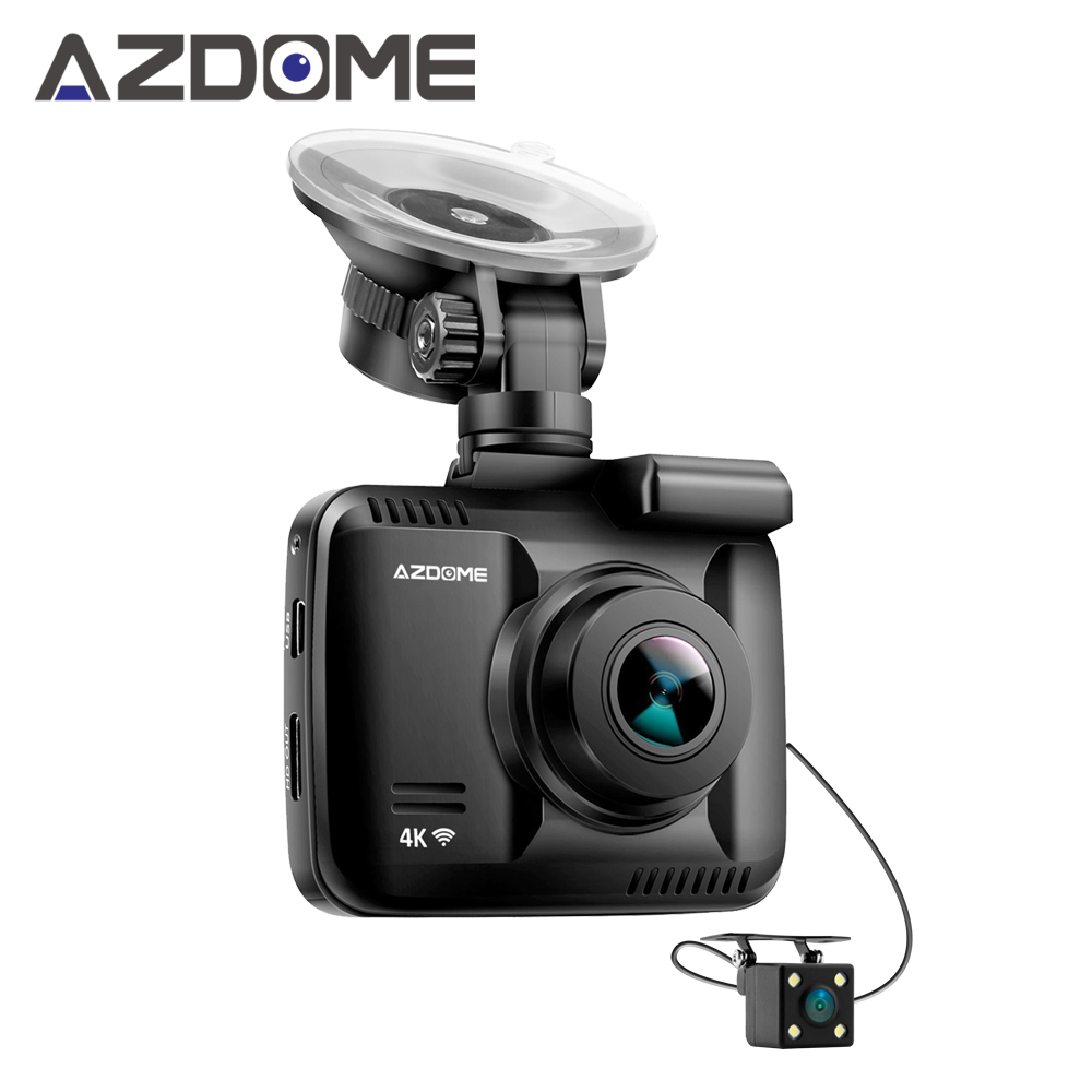 Azdome GS63H Dual Lens WiFi FHD 1080P Front + VGA Rear Car DVR Recorder 2160P Dash Cam Novatek 96660 Dashcam Camera Built in GPS free shipping iec 320 c13 to c7 right angle plug adapter iec c8 to c14 3pin male to 2pin female changer adapter wpt605