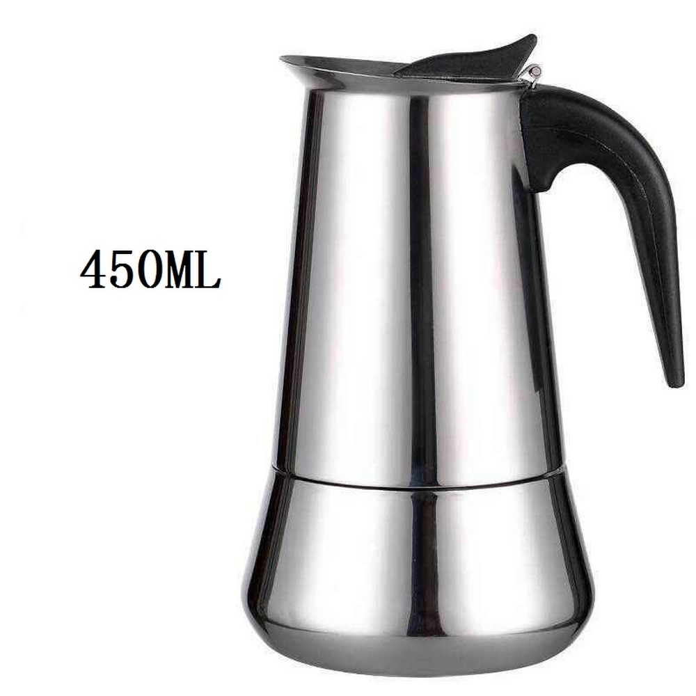 100/200/300/450 ML Portable Coffee Makers Italian Top Moka Espresso Cafeteira Expresso Percolator Stovetop Coffee Maker Pot