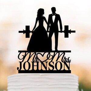 Personalized Wedding cake topp
