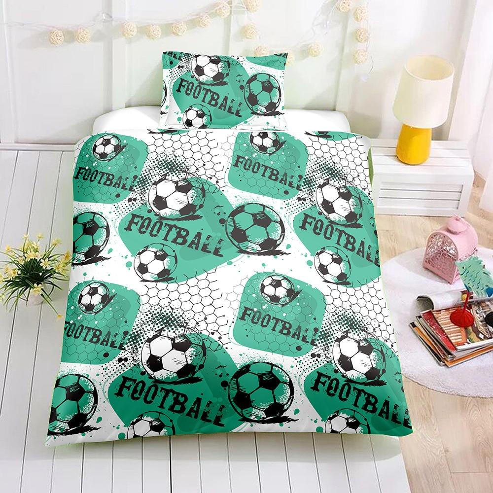 Football Bed Bedclothes Set Boys Bed And Bedding Set Kids Bedding Linen Set Soft Comforter Duvet Cover Set Us Queen For Tee Bedding Sets Aliexpress