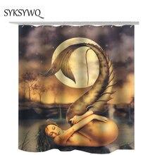 Mermaid shower curtain unique products cortina bano tela drop shipping waterproof fabric bath