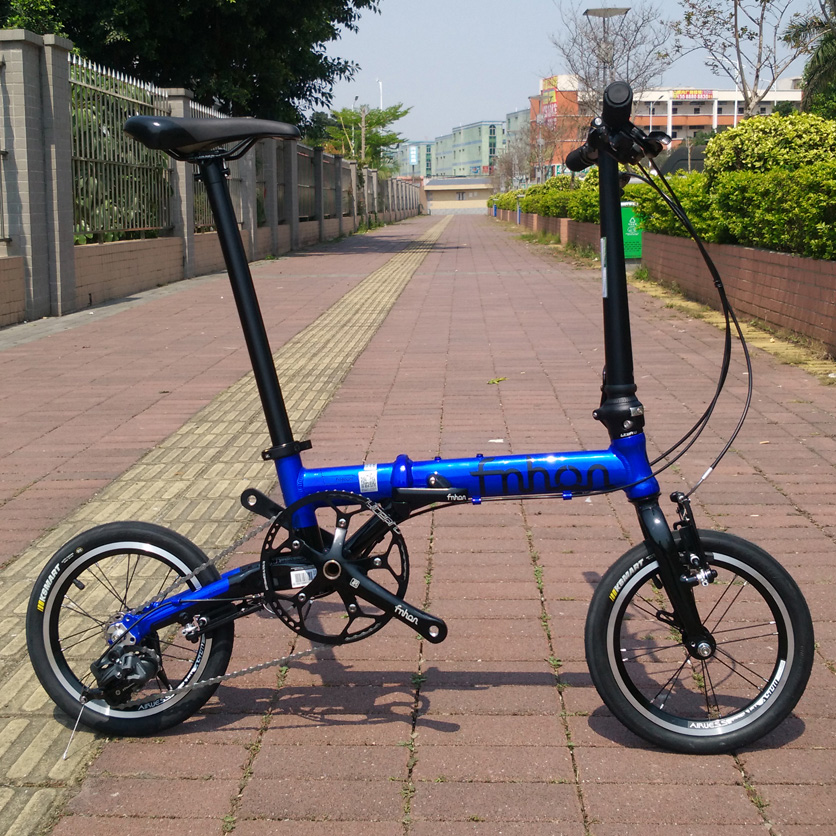 "Fnhon FGA1403 Aluminium Folding Bike 14"" 16"" V Brake 3"