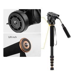 Q188C Extendable 1630mm Carbon Fiber Monopod Unipod For DSLR Camera