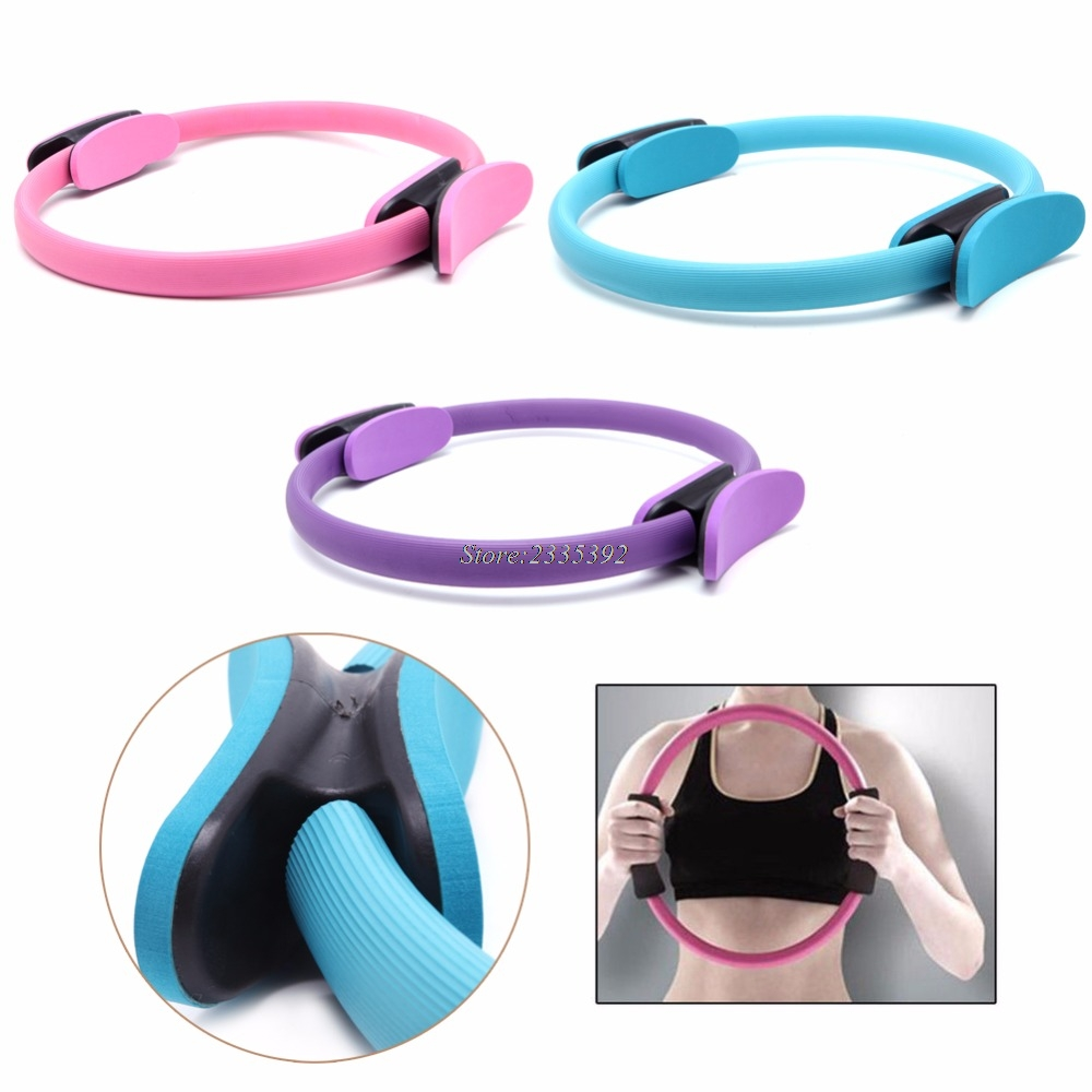 New Dual Grip Pilates Ring Magic Circle Muscles Body Exercise Yoga Fitness Tool ...