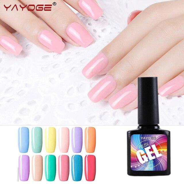 YAYOGE Elegante MACARON 10 ml Esmalte de Uñas de Gel 12 Colores UV ...