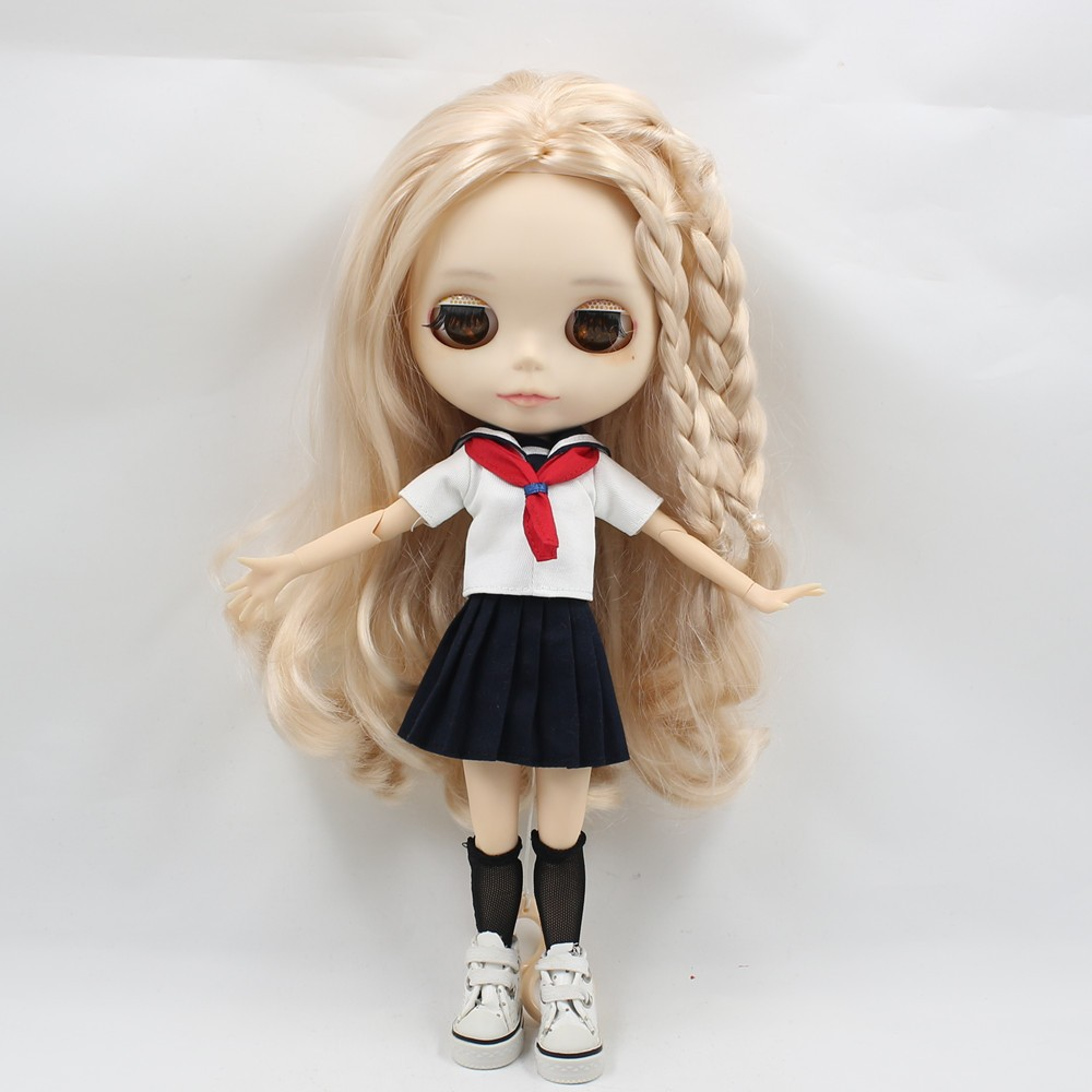 Neo Blythe Doll Sailor Uniform With Leggings 3