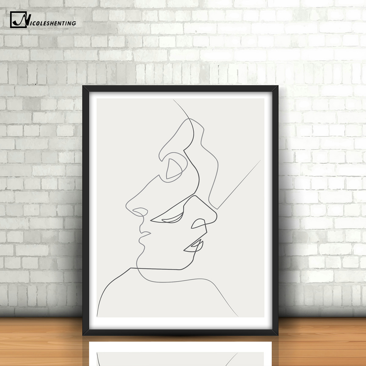 Drawing Lines Using Canvas : Kiss one line drawing face sketches minimalist art