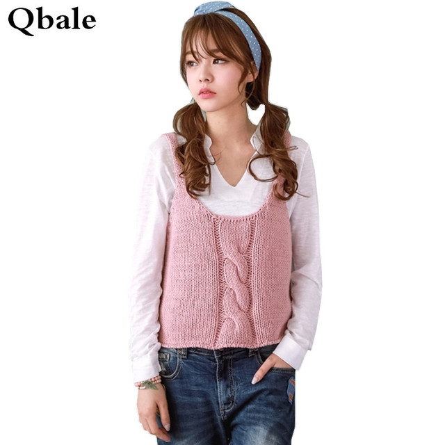 Qbale Vest Knitted Sweater Women 2017 Spring Autumn Preppy Style ...