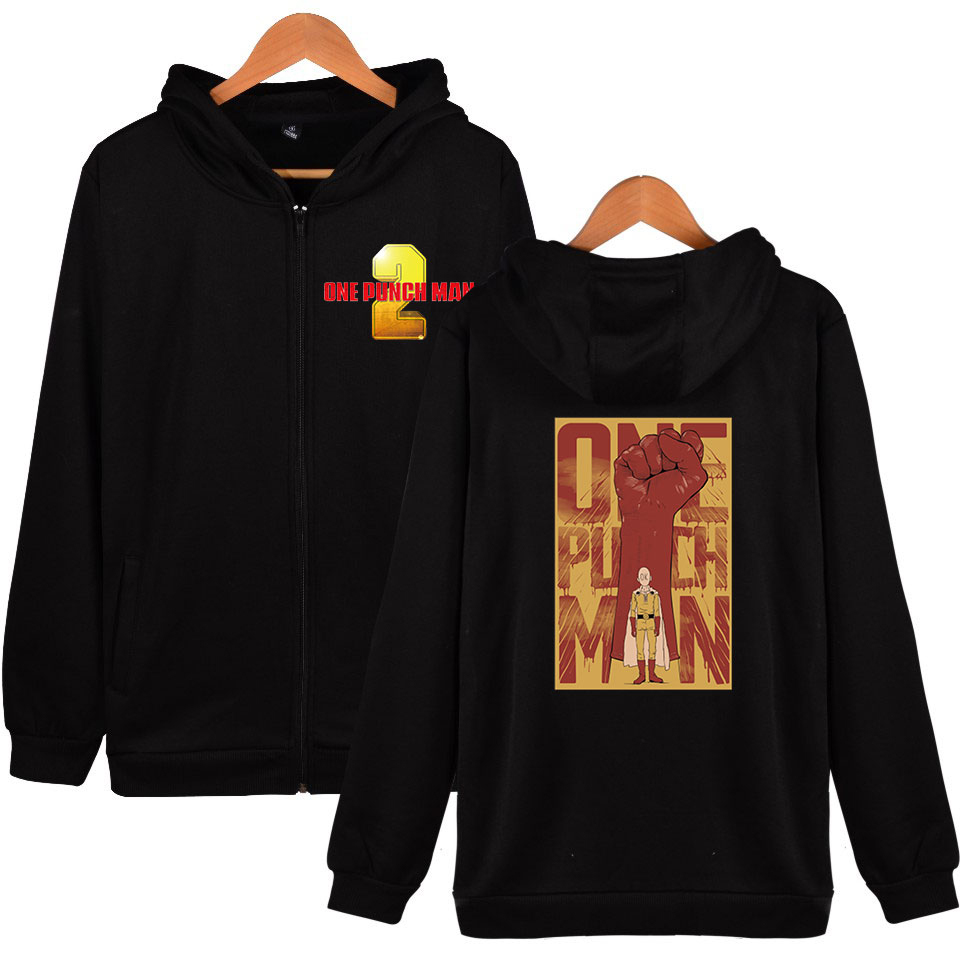 One Punch Man Season 2 2D hoodie Women men zipper fashion hip hop hoodie sweatshirt casual hoodie zipper sweatshirt