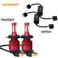Auxmart G9 H4 Sumergido Alta Haz Kit SMD LED Linterna Del Coche 80 W 9600lm 6500 K Luz de Niebla 12 v 24 v LED Faros H4 + CANBUS Error envío