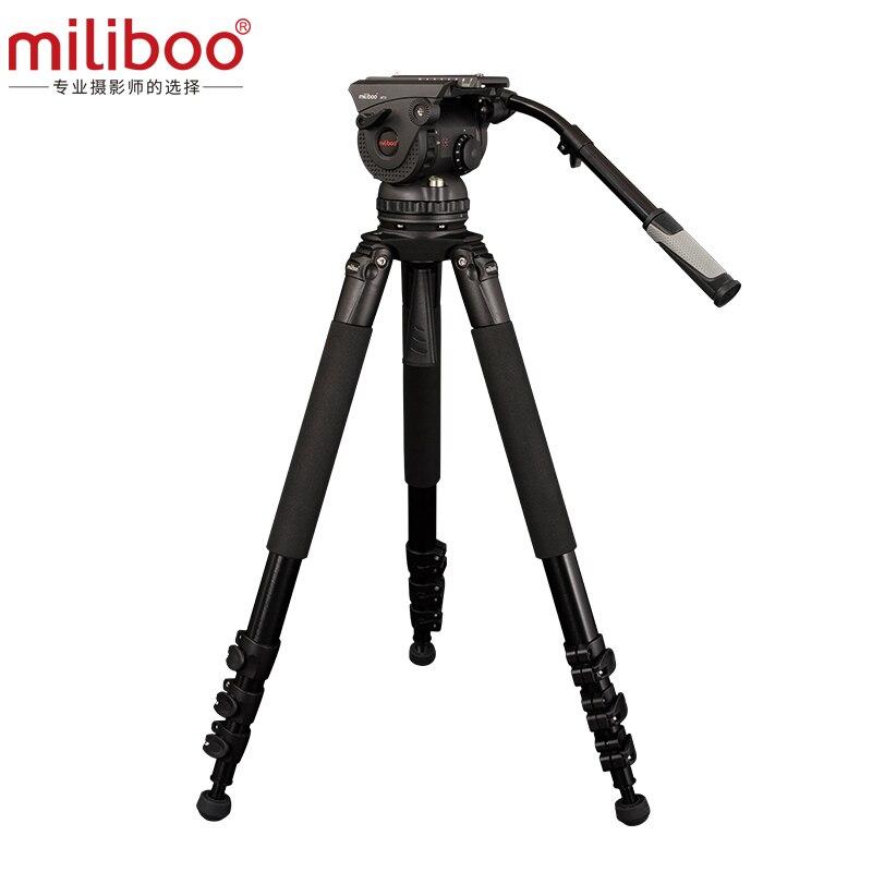 Miliboo Cámara Grande profesional de clase de película tres trípode M15L ajuste hidráulico a prueba de humedad pan tilt rodamiento 18 kg CD50