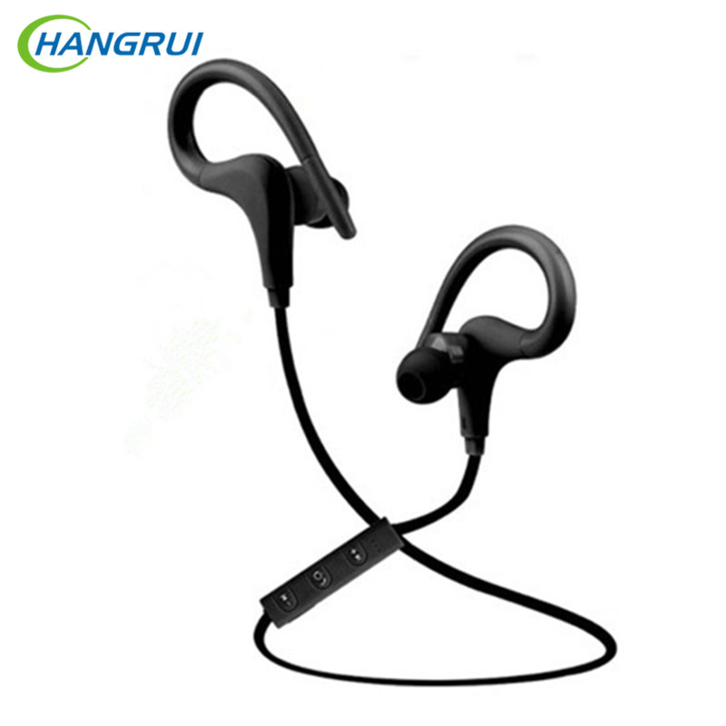 HANGRUI BT-1 Bluetooth Earphone with Mic Wireless Earphones Stereo Sports Running HIFI Headset for xiaomi iPhone fone de ouvido awei stereo earphones headset wireless bluetooth earphone with microphone cuffia fone de ouvido for xiaomi iphone htc samsung