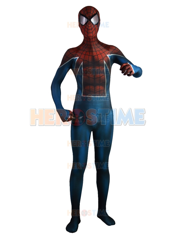 Spider UK Costume Lycra Spandex Spiderman costumes fullbody halloween zentai suit 2015 newest free shipping
