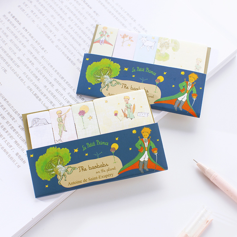 30 pcs/Lot Cartoon little Prince sticky notes and memo pad Post note Book marker Stationery Office tools School supplies F835 sweet black cat and little carton shape sticky notes