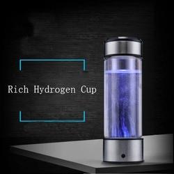 Usb recarregável hidrogênio rico gerador de água eletrólise energia antioxidante orp h2 ionizador água anti envelhecimento saudável vidro