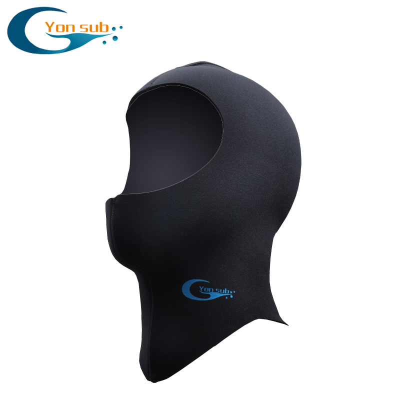 YonSub 3MM / 5MM Neoprene स्कूबा डाइविंग हूड विथ शोल्डर विंटर वार्म हैट कैप्सिंग स्पियरफिशिंग स्नोर्कलिंग इक्विपमेंट Wetsuit Hood