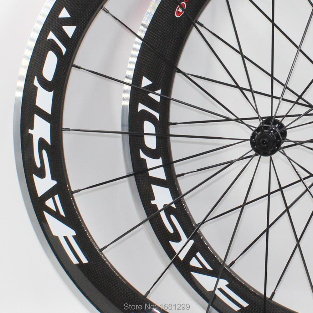 Newest 700C 60mm clincher rims Road bike aero 3K carbon fibre bicycle wheelset with alloy brake surface R13 hubs light Free ship new powerway r13 g3 road bicycle hubs aluminum alloy bike hubs with skewers road parts 18 21 holes lightest 280g pair free ship